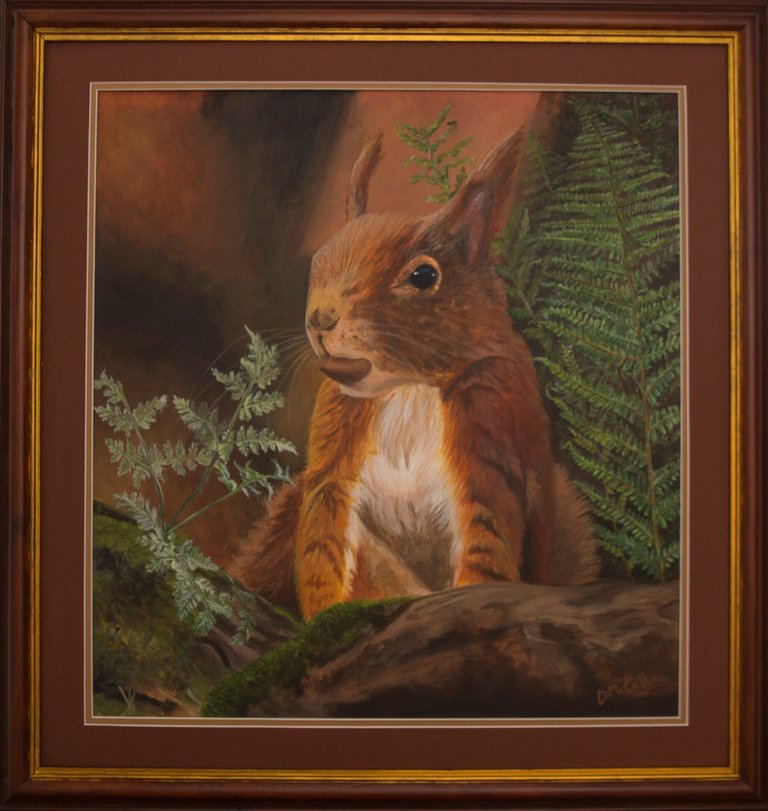 Formby Red Squirrel Painting_ Mount  Frame.jpg