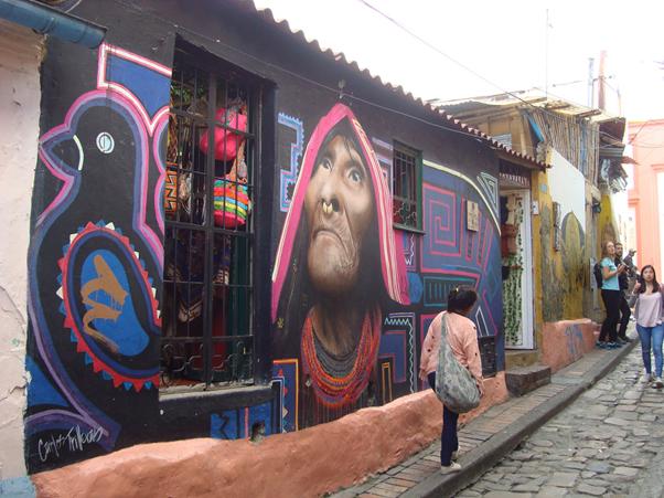 Streets of La Candelaria neighborhood