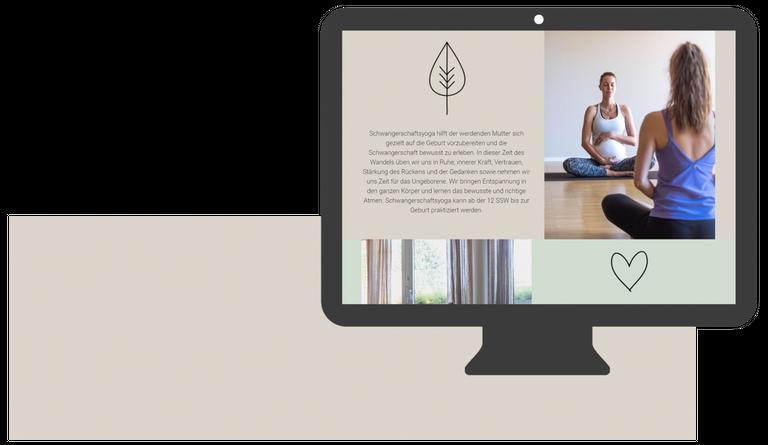 webdesign yoga kurs