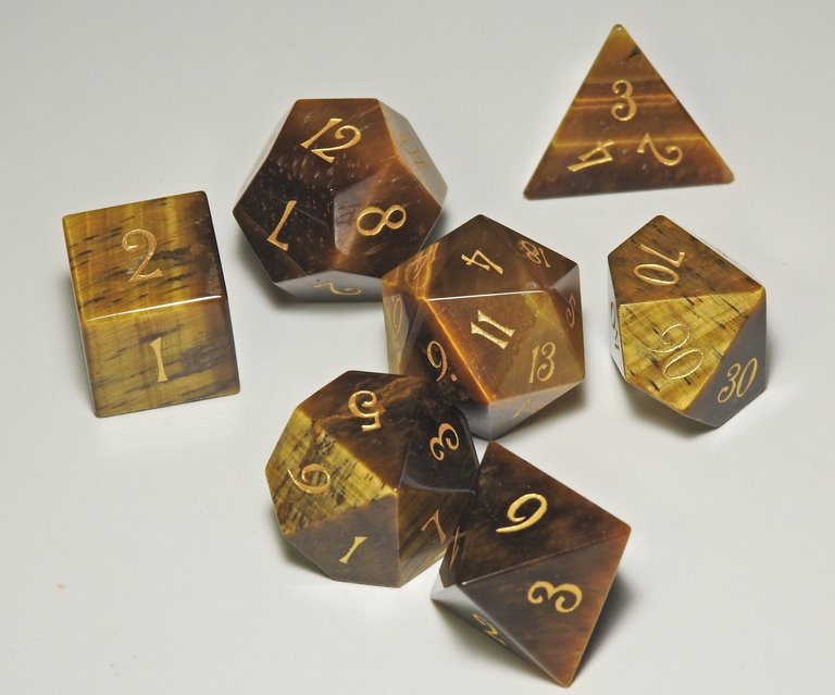 Tiger Eye Dice