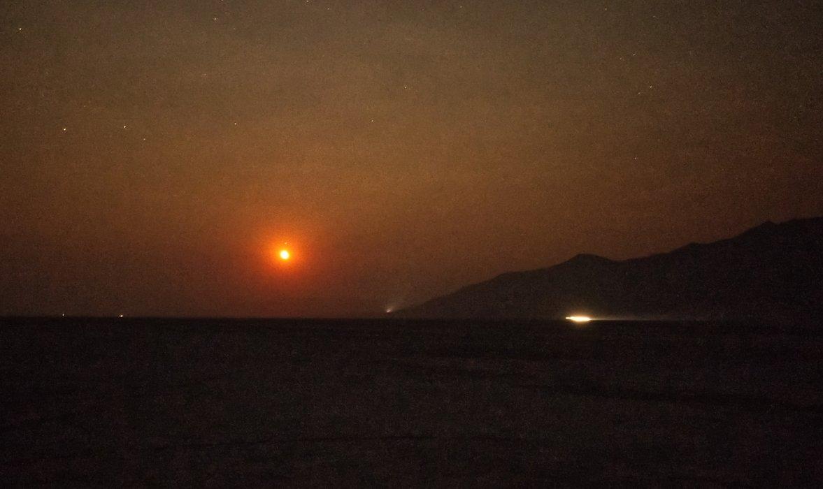 Moon Over Playa - ISO 5000 f/5.6 20 sec 20mm