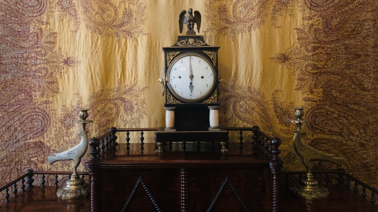 Zegar w saloniku / The clock in the lounge