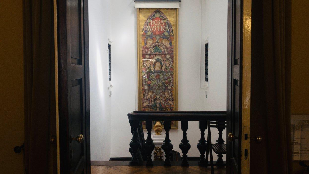Wyjście z saloniku / The exit from the lounge