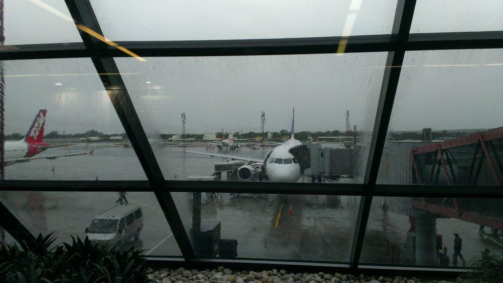 Photo of the plane at Brasilia airport to go to Manaus