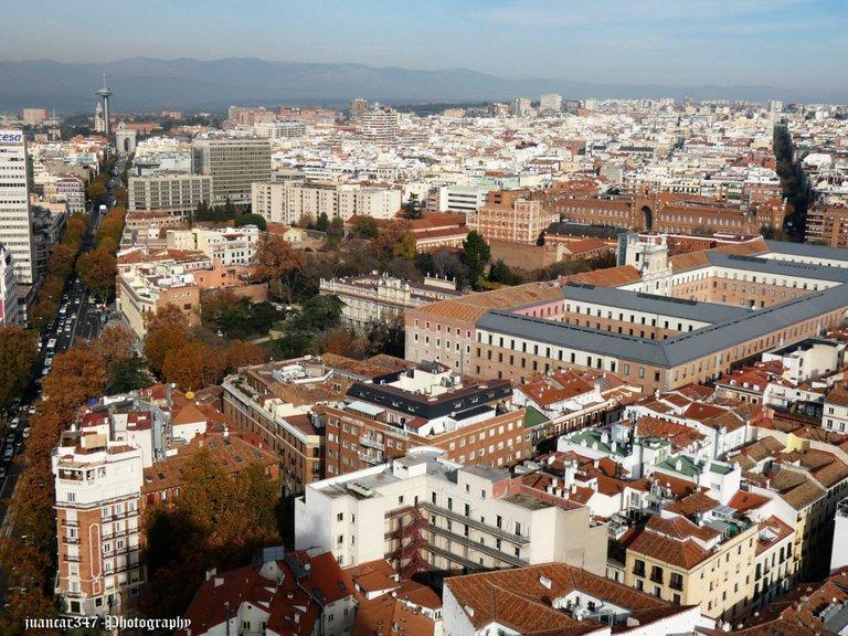 Panoramic: Calle de la Princesa, Argüelles and Moncloa