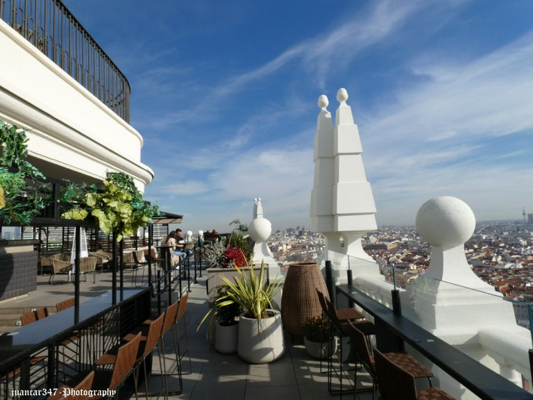 A terrace where you can relax and enjoy the views