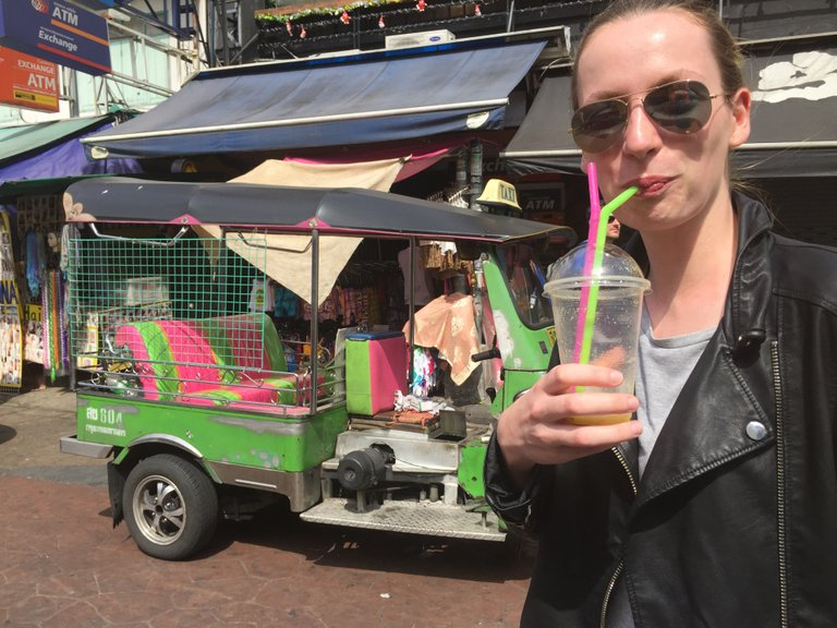 Me with a smoothie