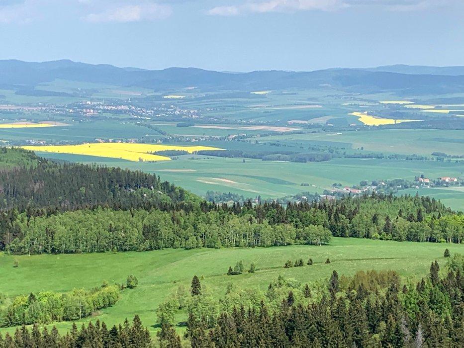 Widok z Szczelińca, kier. północ.