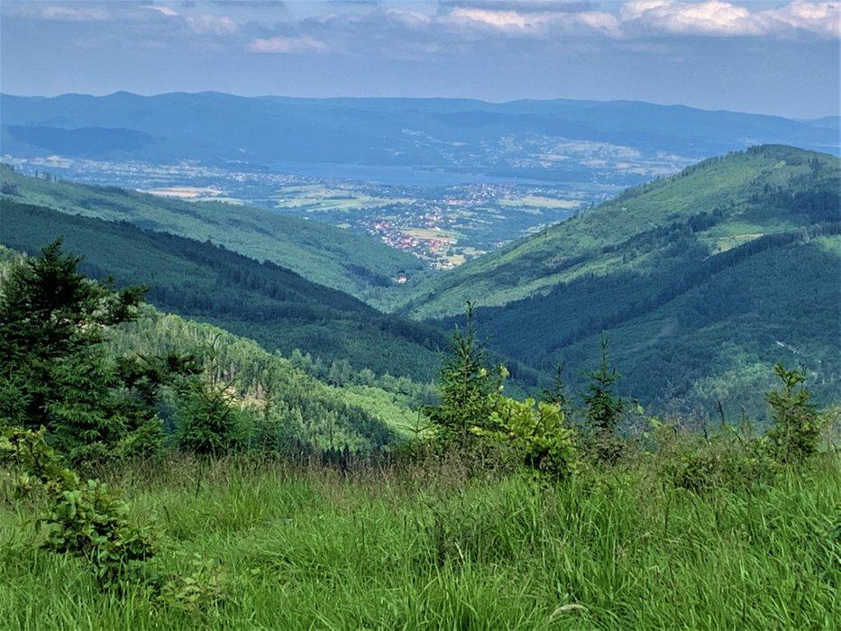Kotlina Żywiecka, widok z okolic Magurki Wiślańskiej