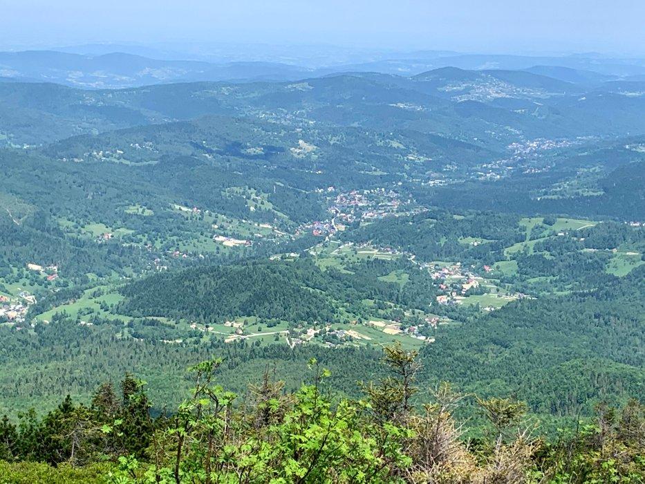 Widok na Zawoję z Małej Babiej Góry