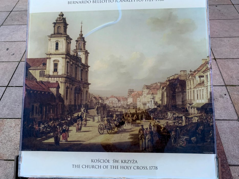 Krakowskie Przedmieście wg Bernardo Belotto aka Canaletto