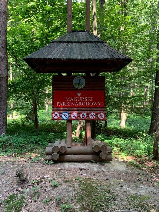 Folusz - wejście do Magurskiego Parku Narodowego