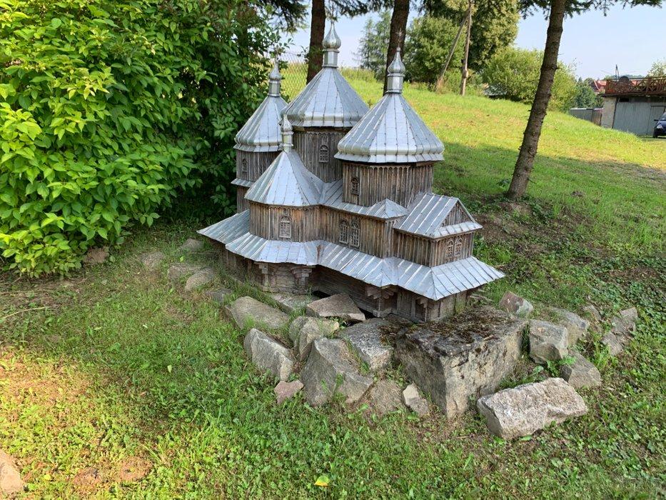 Miniatura cerkwi w Lutowiskach