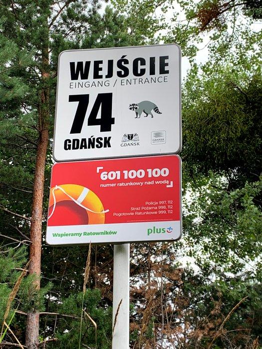 Oznaczenie wejścia na plażę - Gdańsk