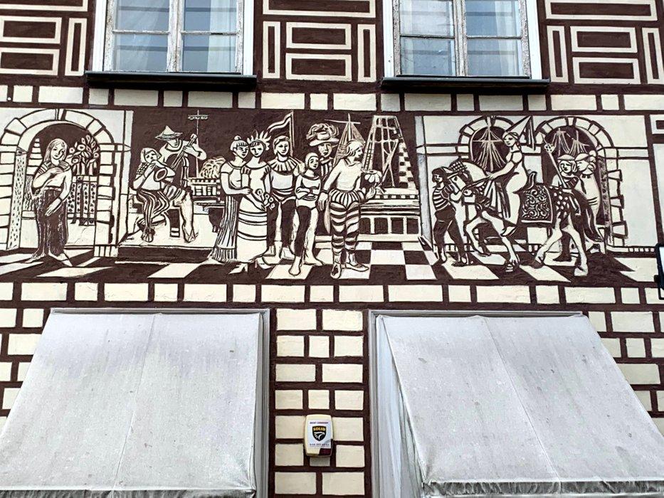 Jedna z kamienic w centrum Gdańska