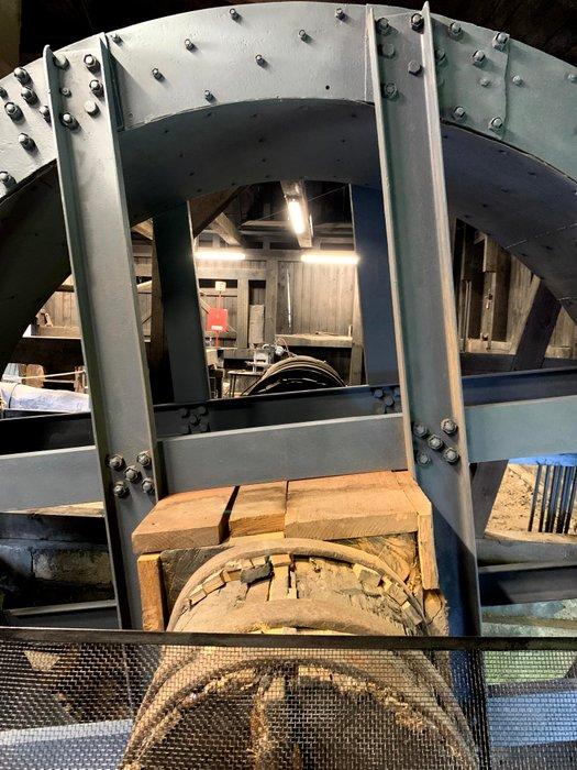Koło nadsiębierne wsteczne, wykonanie Königshütte