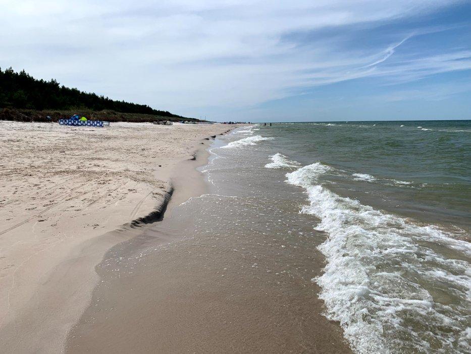 Długi spacer wybrzeżem Bałtyku