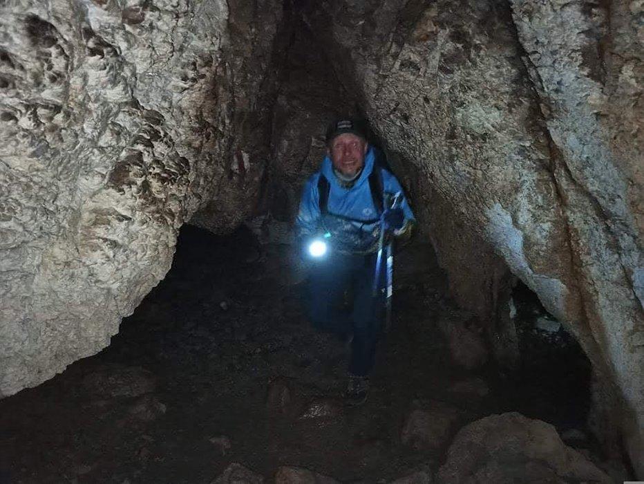 Autor w Jaskini Mylnej