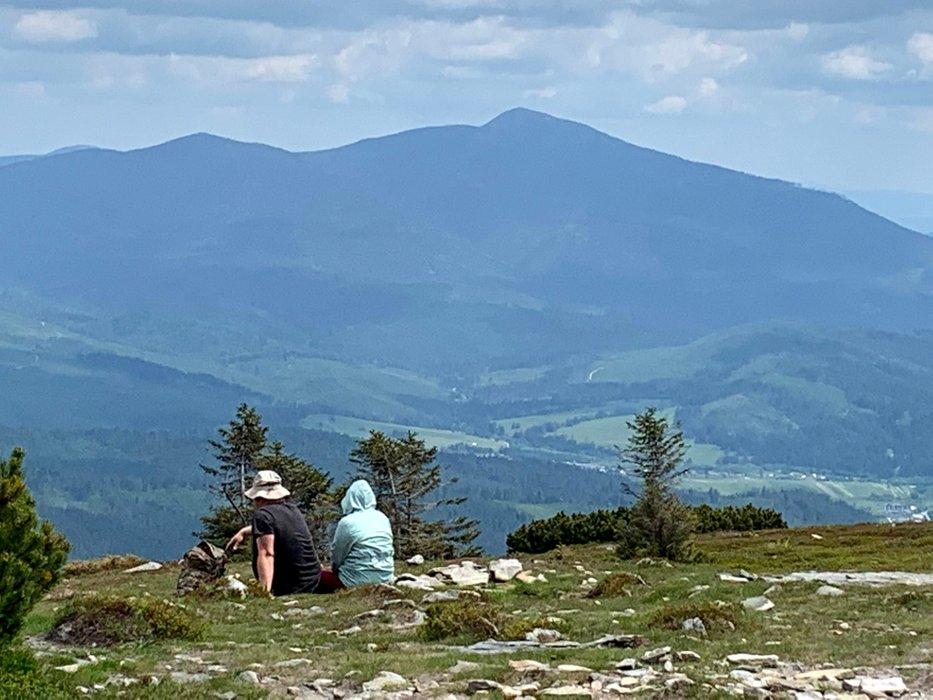 Babia Góra widziana ze szczytu Pilska