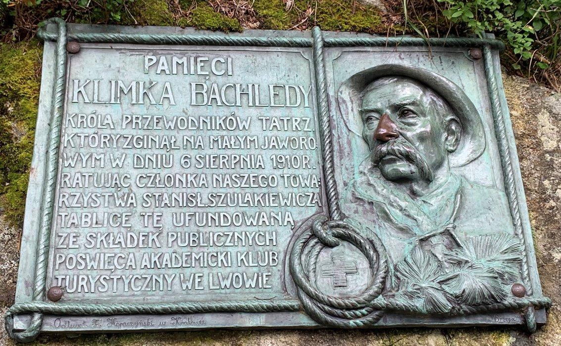 Tablica pamięci Klimka Bachledy