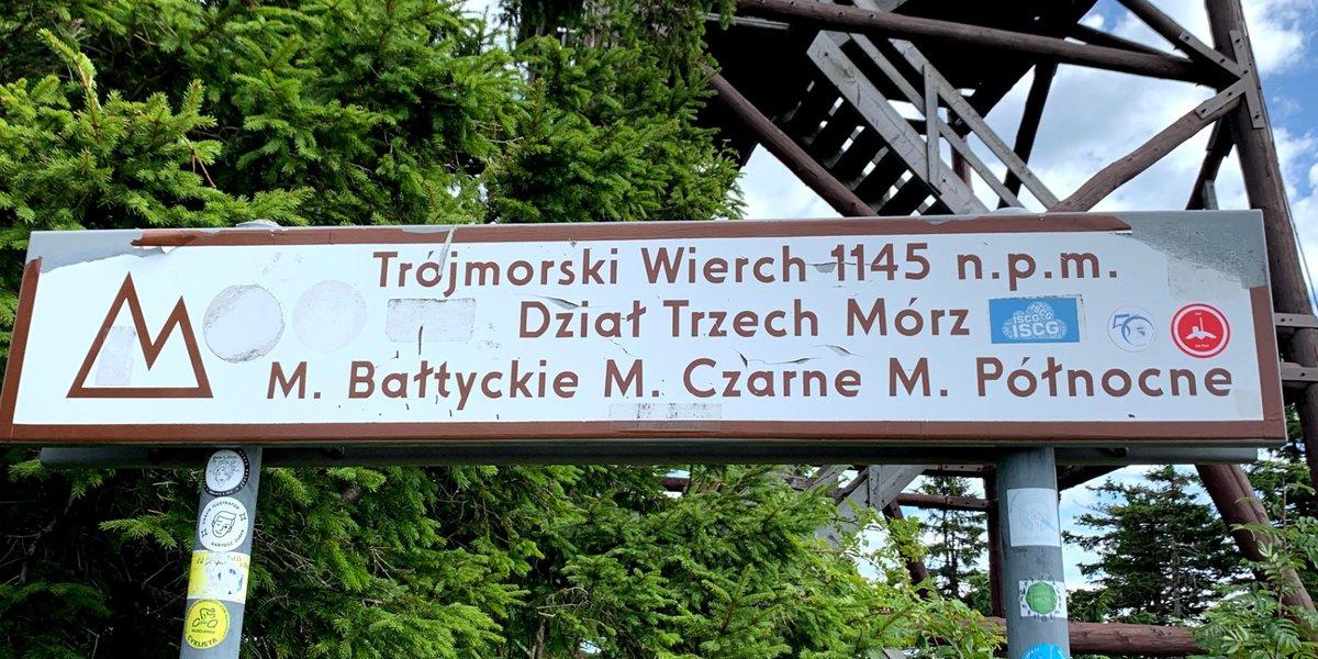 Korona wokół Kotliny Kłodzkiej: Cz.4 - Trójmorski Wierch w Masywie Śnieżnika, trójstyk zlewisk mórz.