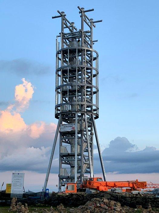 Wieża widokowa na Śnieżniku (w budowie)