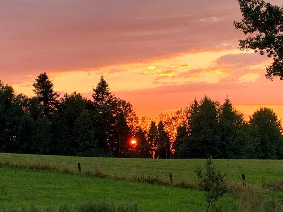 Zachód słońca w Czarnej Górnej