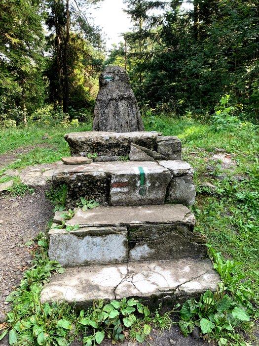 Pozostałość po oryginalnym obserwatorium na Lubomirze