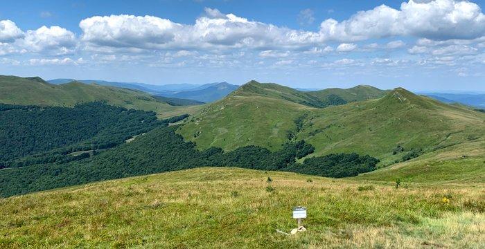 Lipiec 2021 na szlakach. Beskid Śląski i Bieszczady (oraz Góry Sanocko-Turczańskie).