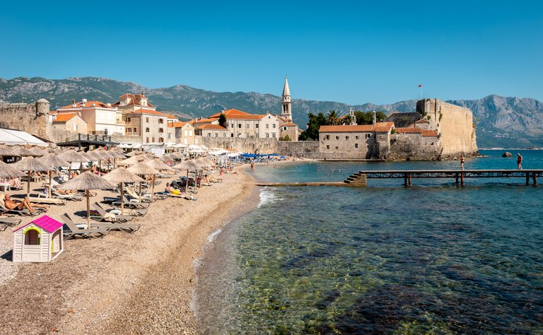 Old Town Beach in Budva