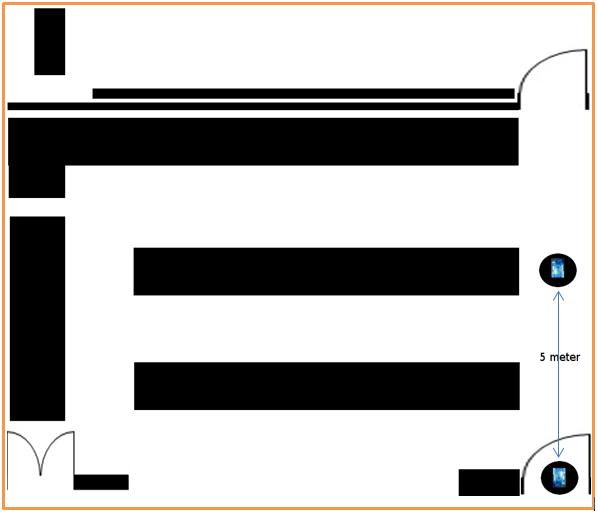 Gambar 3.4 Peta lab sistem komunikasi penelitian jarak 5 meter.PNG