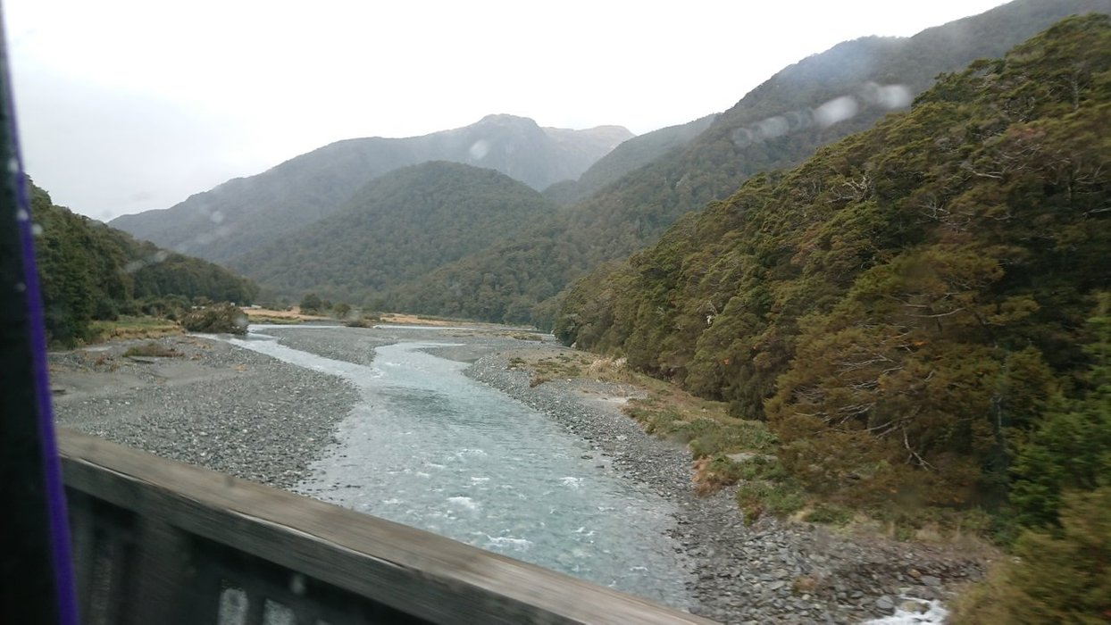 You're not far away once you've crossed this bridge and the Makarora River