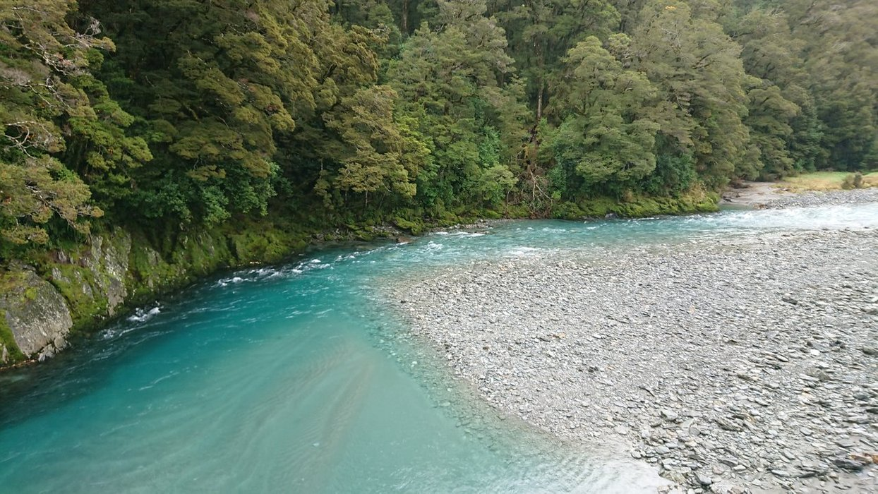Here's how the river looks from up above - beautiful and blue