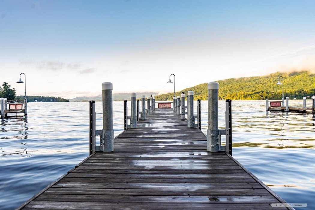 one of the public docks at the Southernmost part of Lake George