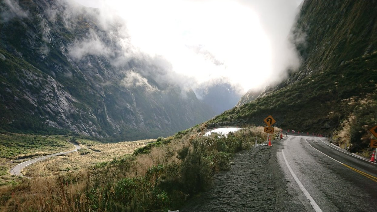 Amazing scenes at the west side of Homer Tunnel