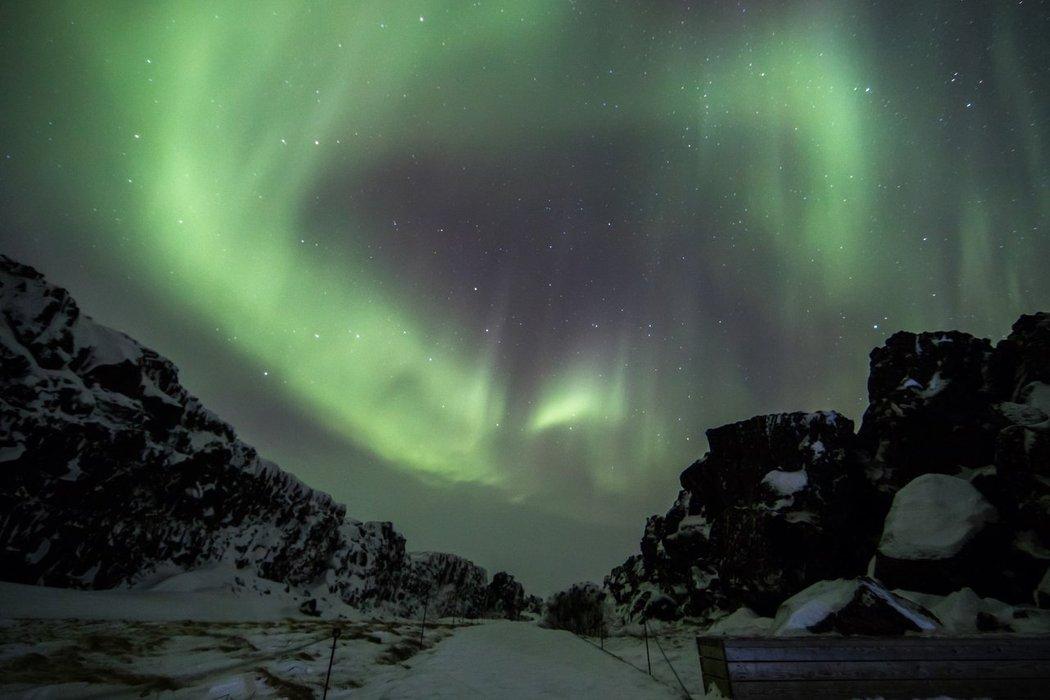 Awesome aurora borealis