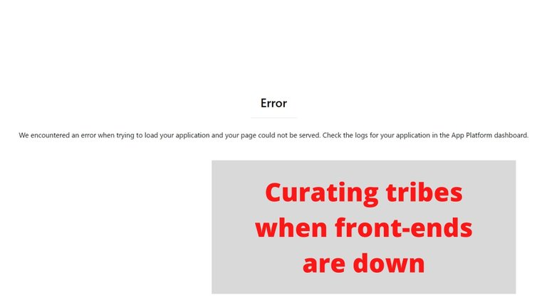 Curating tribes when front-ends are down.jpg