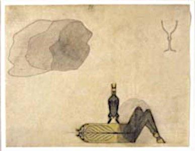 August Natterer Neter artwork 1919, Weltachse mit Haase Axle of the World, with Rabbit.jpg