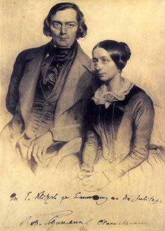 Schumann robert and clara 1847 daguerrotype by edward kaiser public.jpg