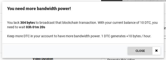 not enough bandwidth demo