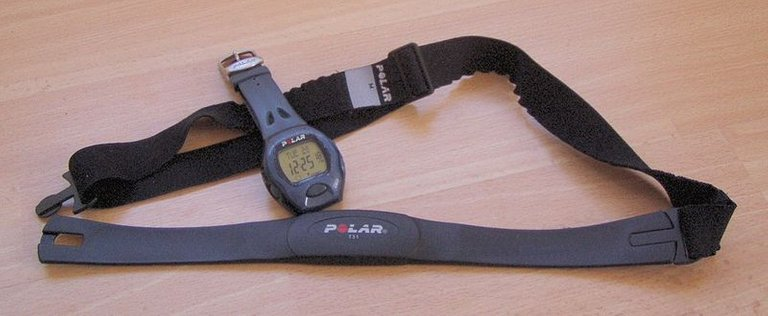 Heart rate monitor with a wrist receiver