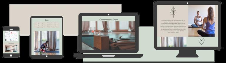 webdesign responsive yoga