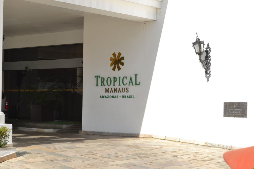 View of the entrance to the Tropical hotel