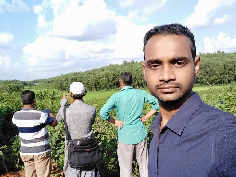 I (taking selfie) and from left my uncle, Father & Uncle