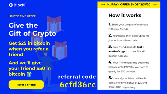 Earn 6% Interest on your BTC through BlockFi: How to Register, Review & Referral Code