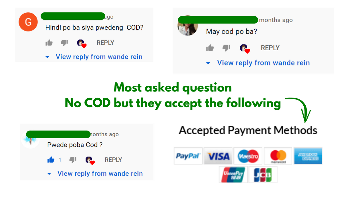 COD is king in Philippine online shopping but iHerb does not have this in the country yet. It's a company based in the US so they have major international payment methods.