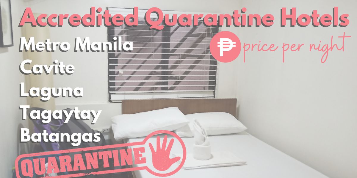 List of DOH-BOQ Stringent & Mandatory Quarantine Hotels with Estimated Price 2021 | NAIA
