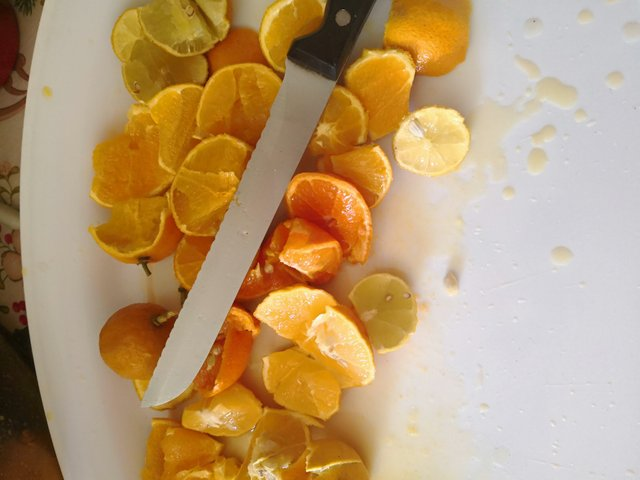 You can use leftover citrus for cleaning