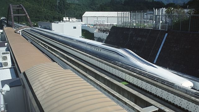 L0 Series on SCMaglev test track in Yamanashi Prefecture, Japan