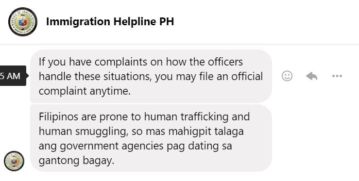 preventing filipino human trafficking by immigration